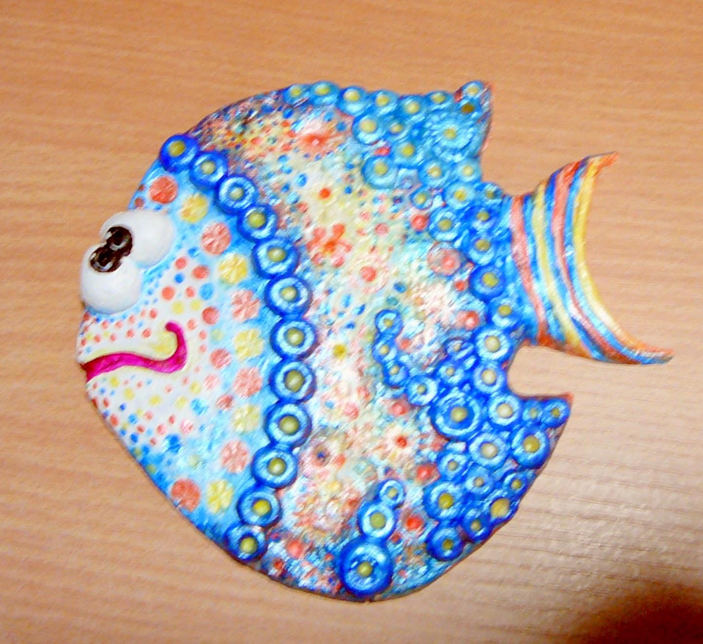 Рыбки из соленого теста своими руками пошаговая инструкция фото