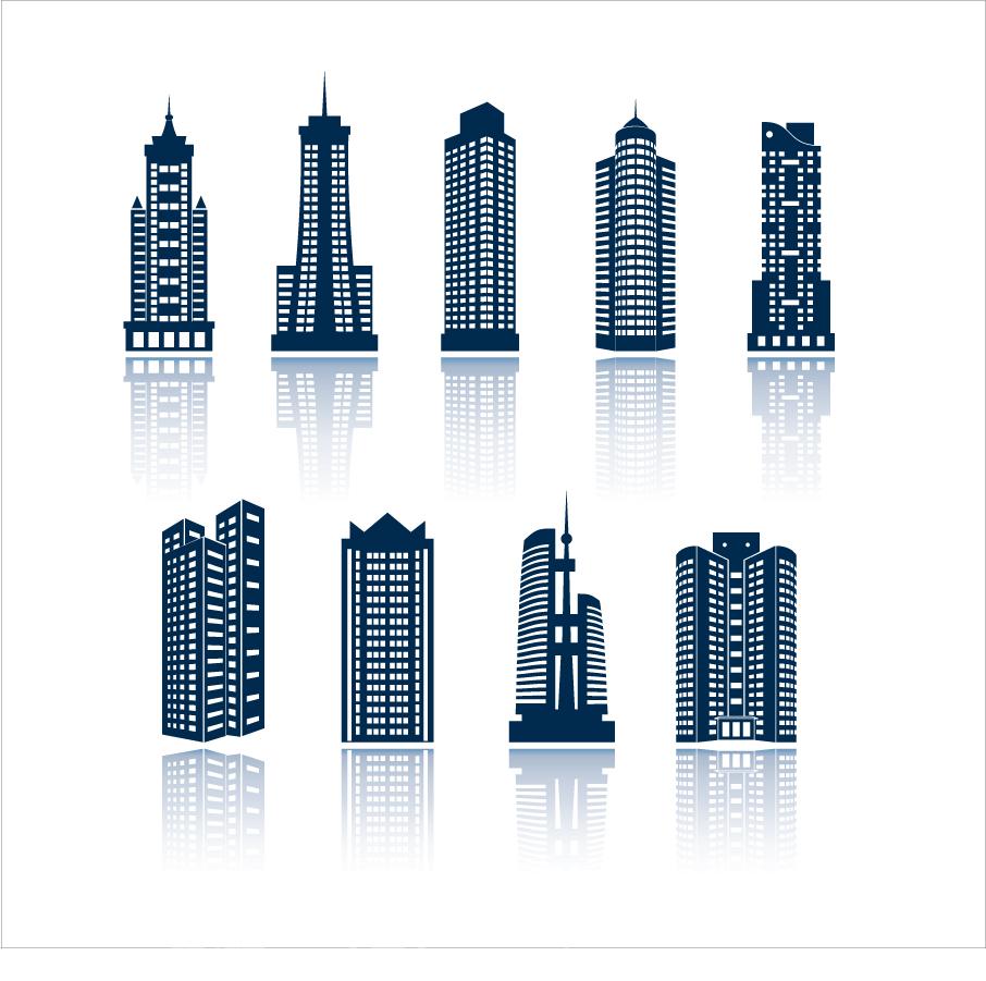 不動産をイメージしたロゴ見本 real estate logo template イラスト素材