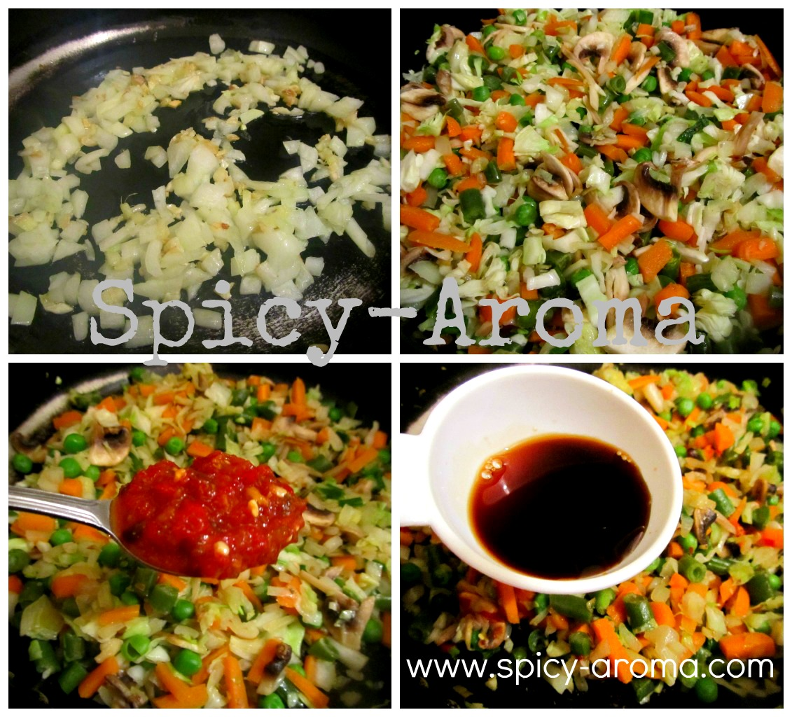how to make fried rice step by step with picture