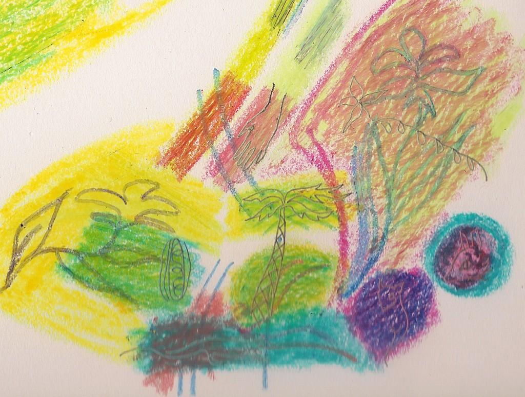 Crayon Scribble Drawing : Kids paper border joy studio design gallery best