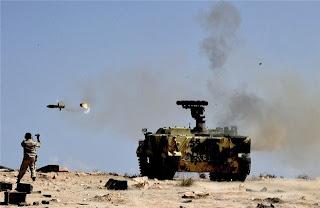 Первое боевое применение СПТРК «Хризантема-С» в Ливии