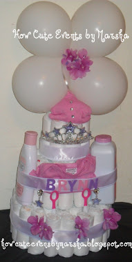 Diaper Cake by Marsha