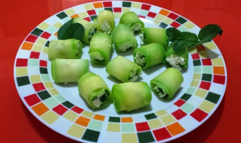 involtini di zucchine e feta