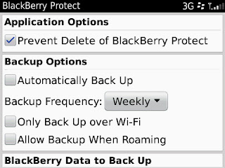 how to prevent blackberry from deleting text messages