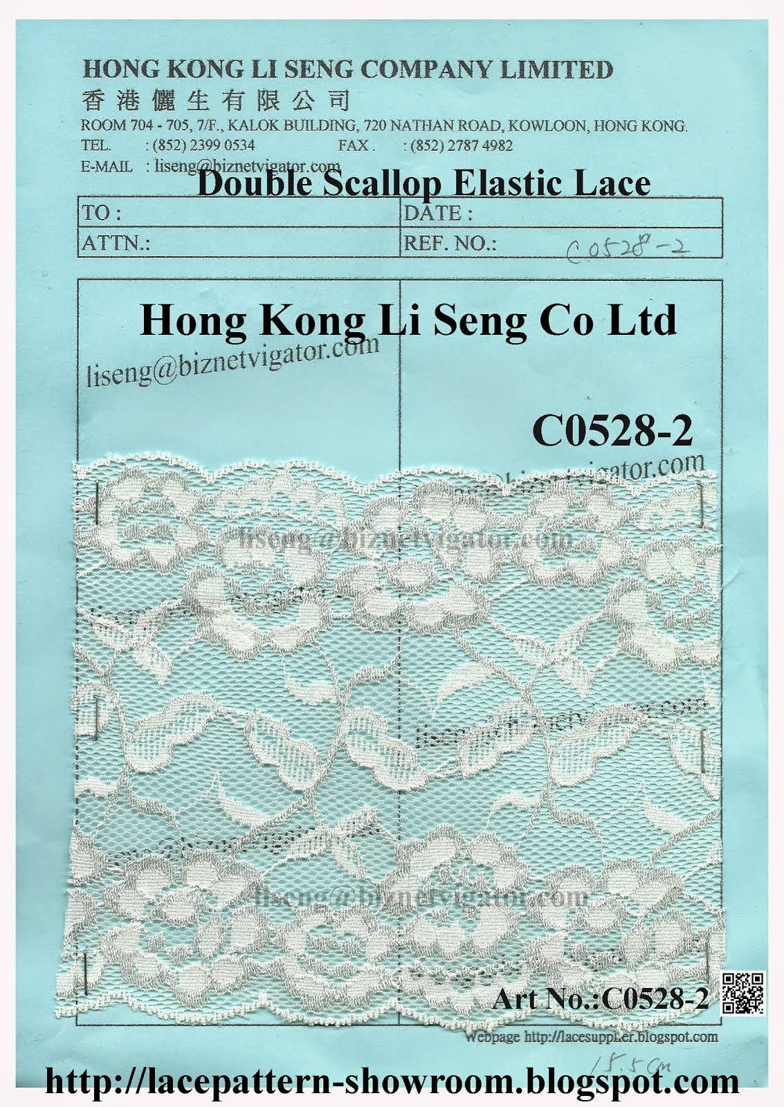 Double Scallop Elastic Lace Wholesaler and Supplier - Hong Kong Li Seng Co Ltd