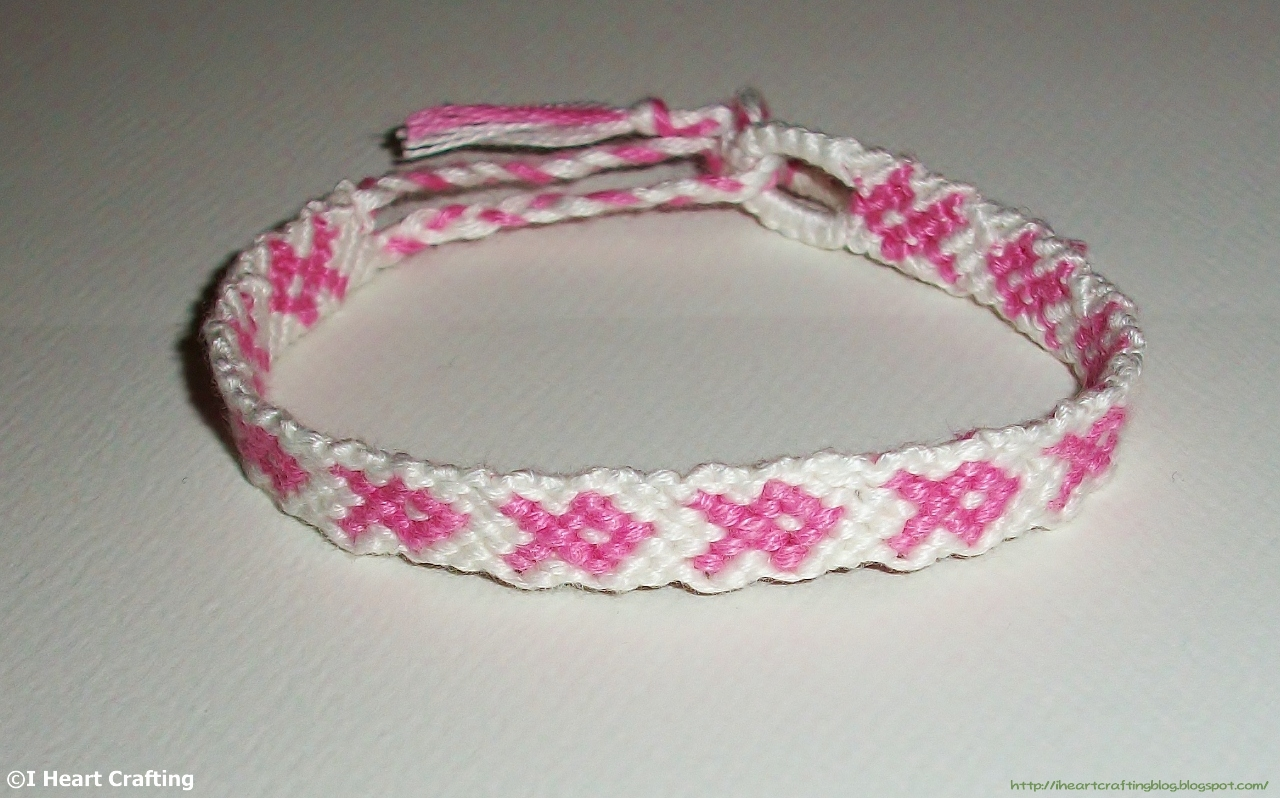 loop chevrons floss finger bracelet embroidery braiding fingerloop with friendship bracelets