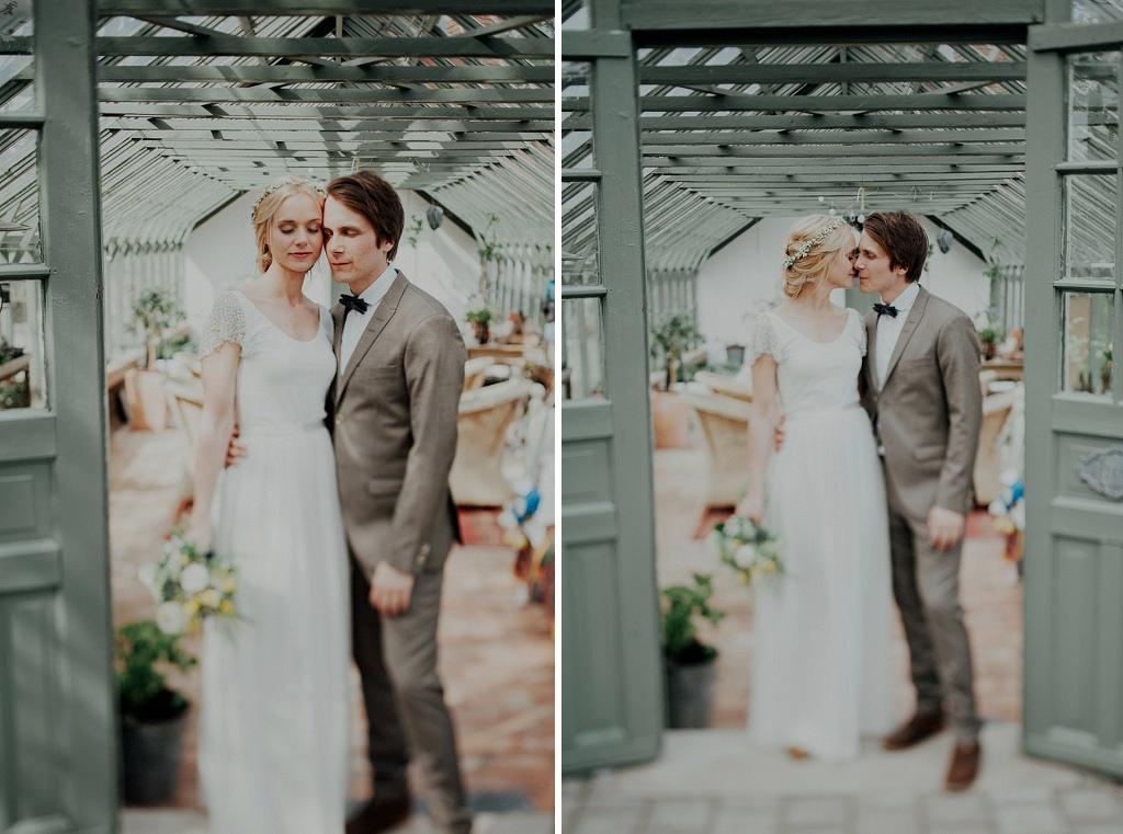 Bröllopsfotografering i bohemskt växthus