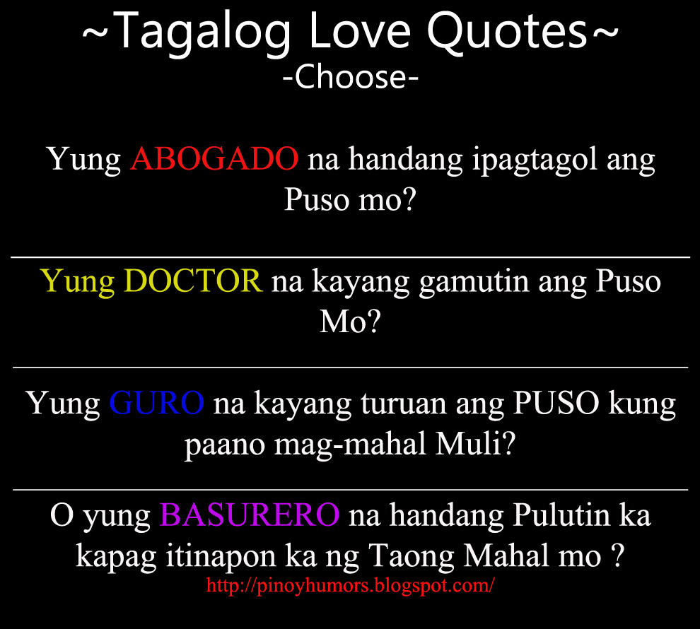 Love Quotes Tagalog Pinoyhumor Tagalog Love Quotes