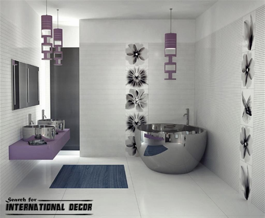 Bathroom Decorating Ideas Purple tiles for bathroom decorating shelterness. futuristic bathroom
