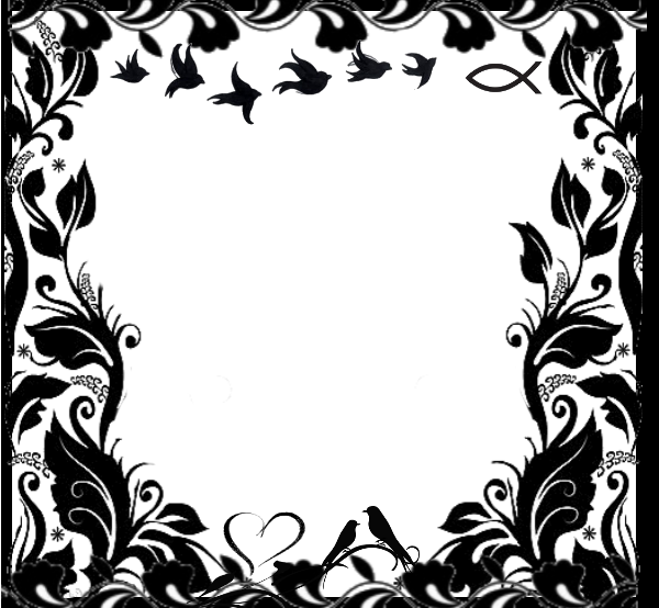 Awesome Black and White Frames : Artistic Frames