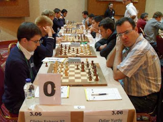 Maxime Vachier-Lagrave de l'équipe de Clichy echecs 92 face à Emil Sutovski de Odlar Yurdu © Chessdom