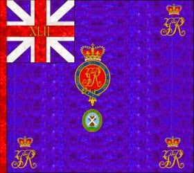 42nd Regiment of Foot (John Murray)  Regimental Colour 1759