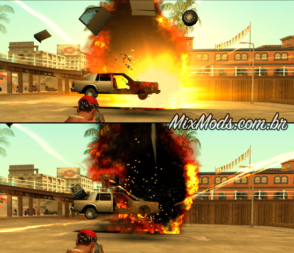 Gta Sa Mod Insanity Remastered Effects Explosion Hd