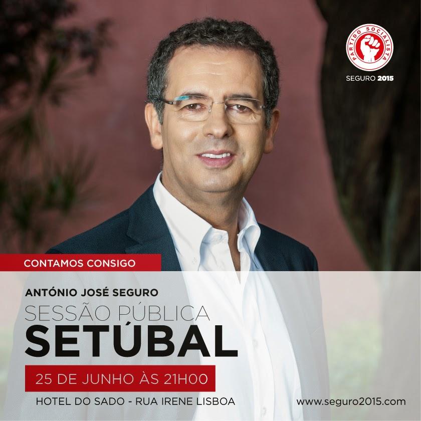 Amanhã à noite o Secretário-Geral do Partido Socialista, António José Seguro, estará em Setúbal.