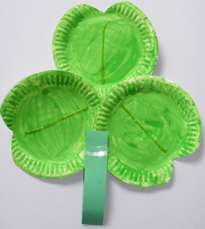 http://www.activityvillage.co.uk/paper-plate-shamrock