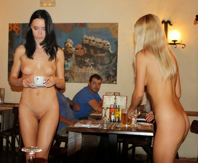 Something is. Naked girls in restaurants
