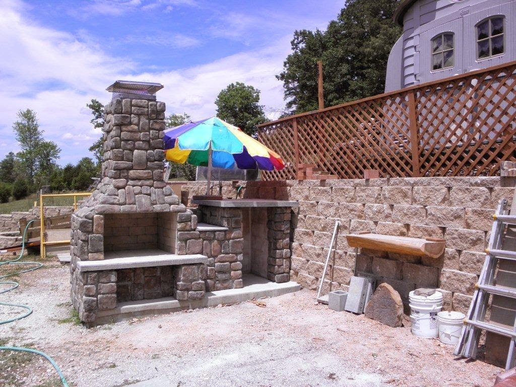 The Szymski Family Wood Fired Brick Pizza Oven and Fireplace Combo ...