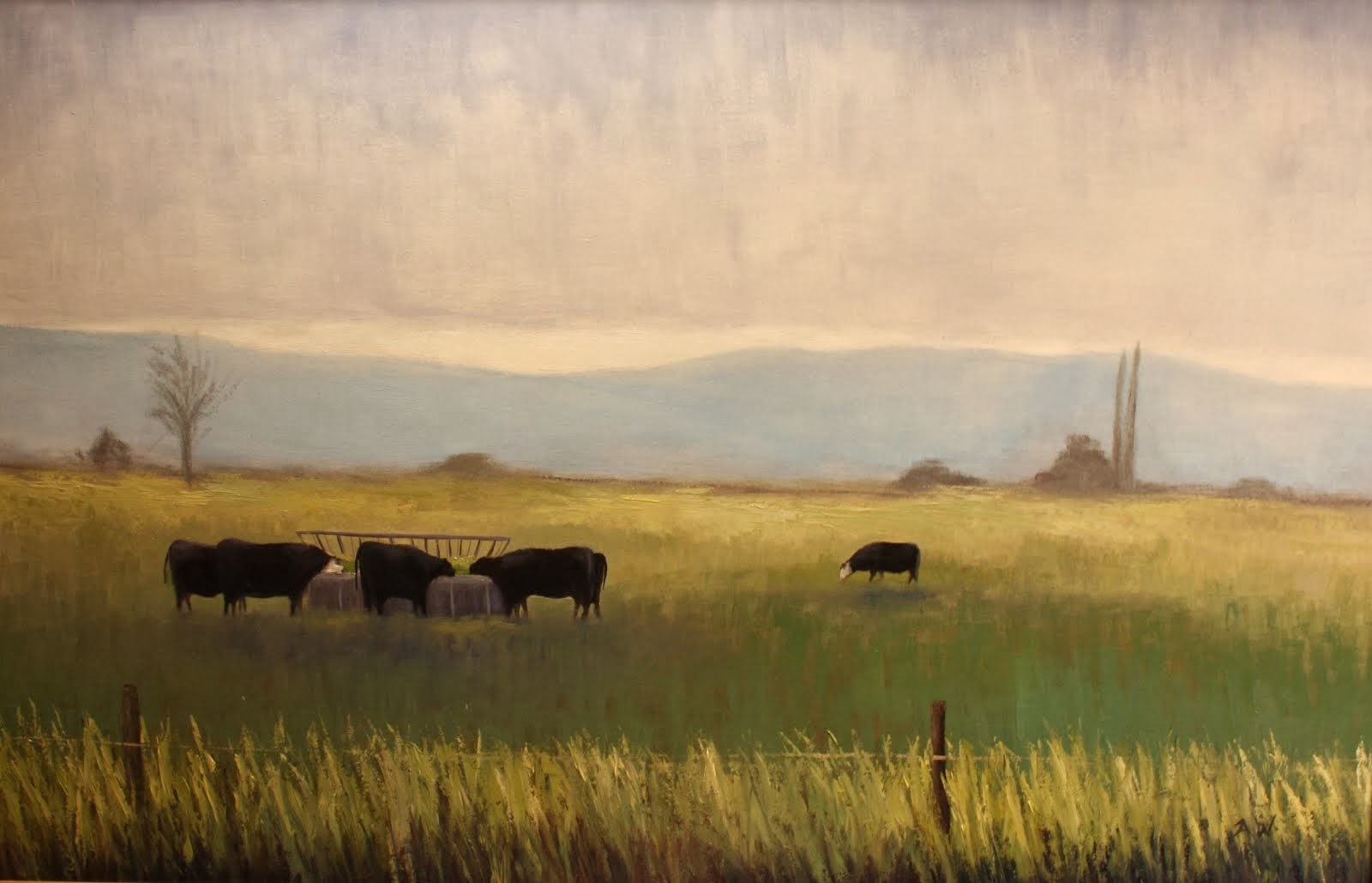 """Cattle Feeding"" 24x36"