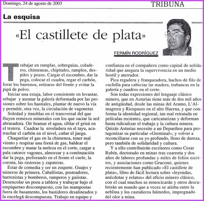 Fermín Rodríguez y El Castillete de Plata
