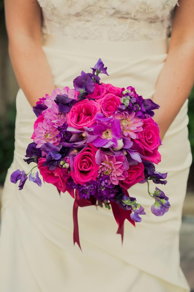 Purple Blue And Pink Wedding Flowers: Wedding bouquet purple ...