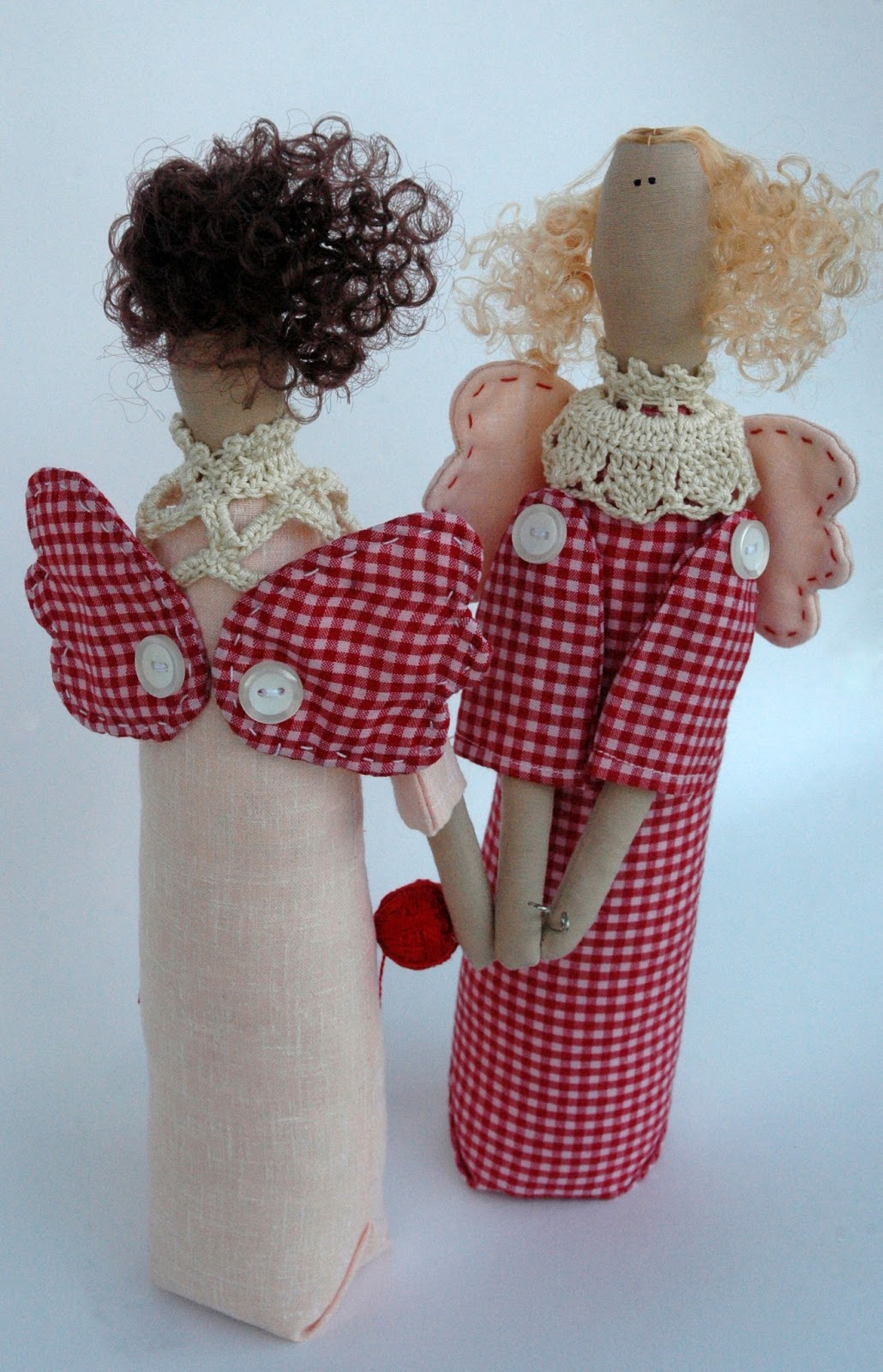 Ангелы-рукодельницы. Куклы примитивы