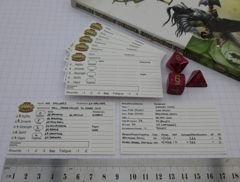 Oubliette magazine savage worlds character sheet pads now for Bureau 13 savage worlds