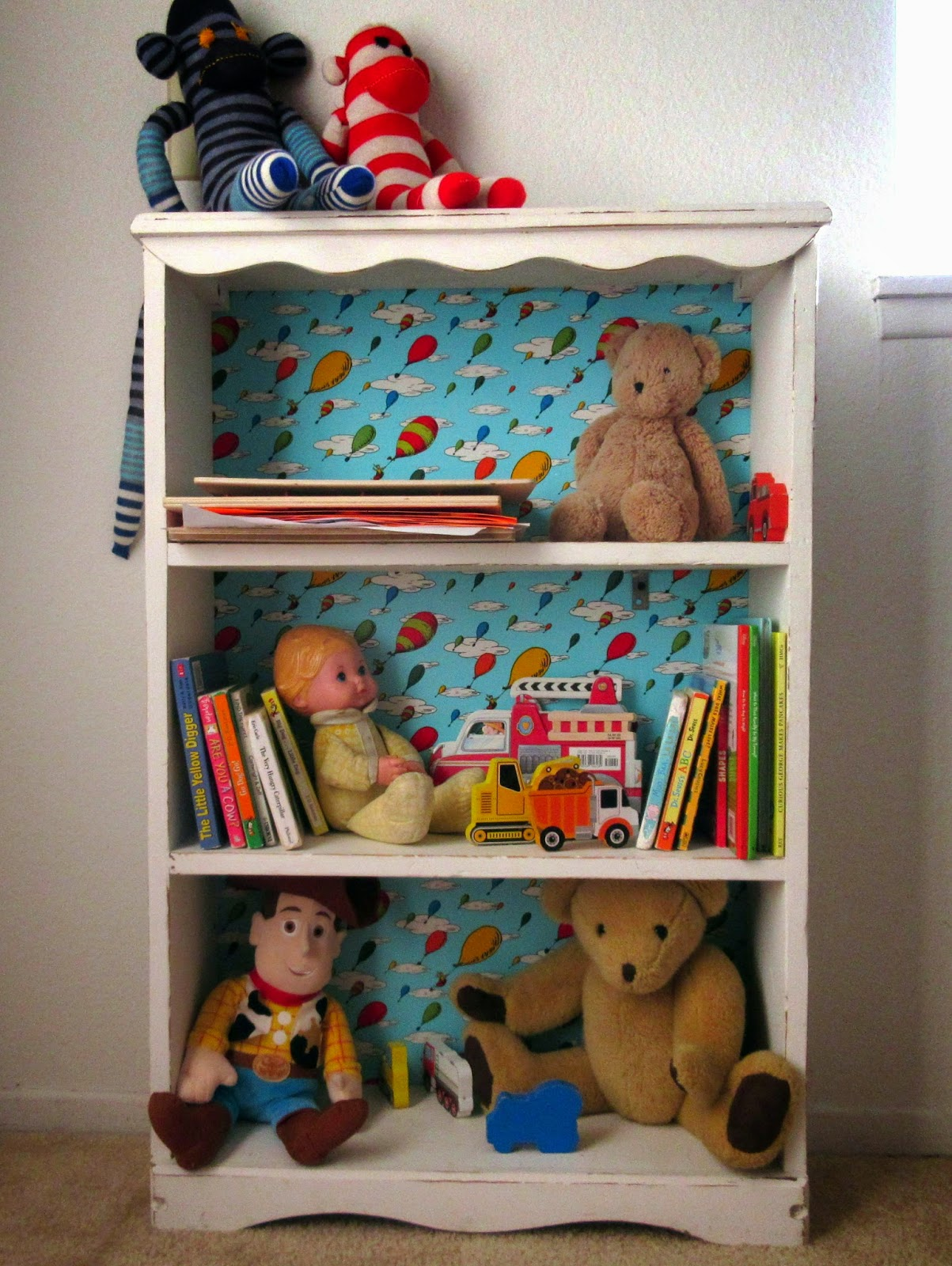 distressed bookshelf kids