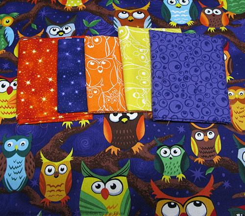 Nite Owl fabrics used