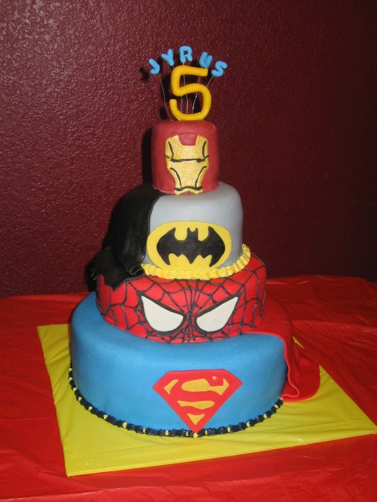 Popular Pinterest: SuperHero Themed Birthday cake for boys