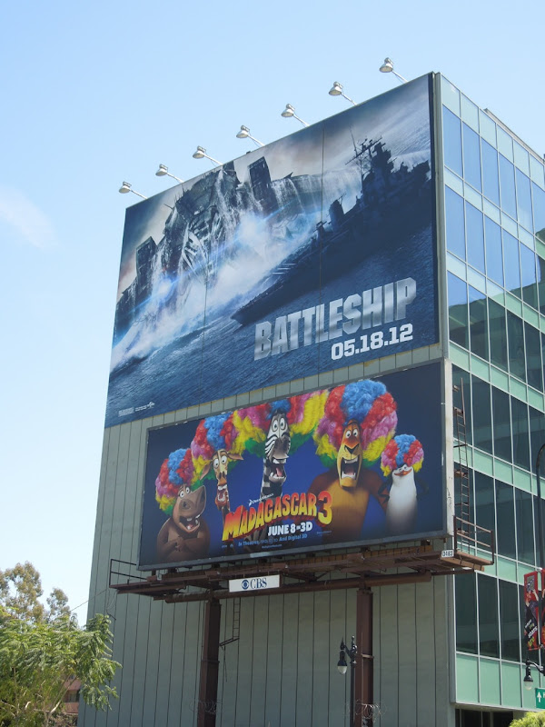 Battleship Madagascar 3 billboards