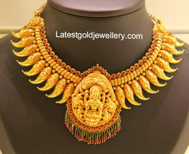 Mango temple jewelry necklace latest gold jewellery designs mango temple jewelry necklace aloadofball