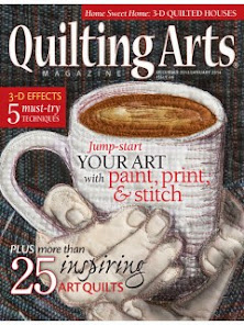 See My Work in Quilting Arts Dec/Jan 2013