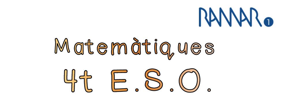 MATEMÀTIQUES - 4t ESO
