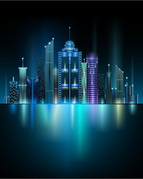 gran ciudad - vectores