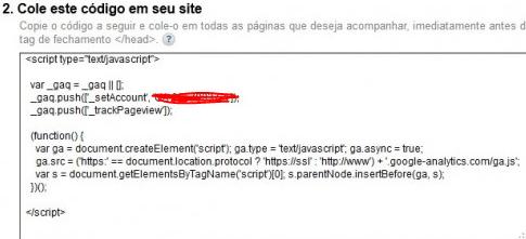 Código de rastreamento do GA em Java Script - Google Analytics