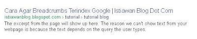Breadcrumbs Terindex Google