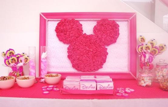 Decoraci n de fiestas infantiles de minnie mouse arcos for Decoracion cumples infantiles