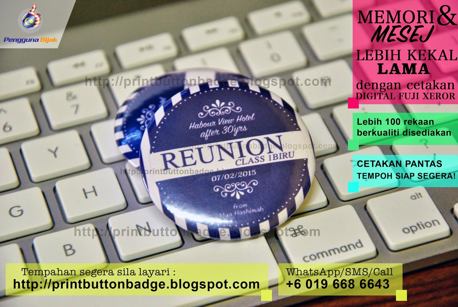 Cetak button badge
