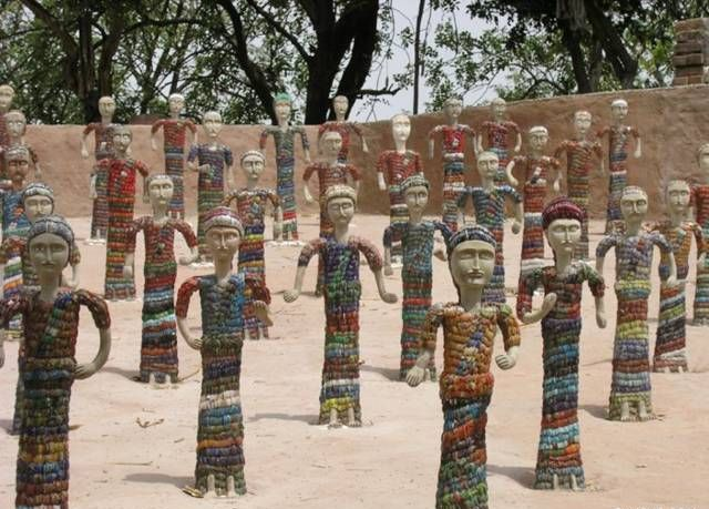 Perfect Created From Found Objects And Discarded Materials, Nek Chandu0027s Rock Garden  Is Filled With Whimsical Concrete Figures, Waterfalls, And Interlocking ...