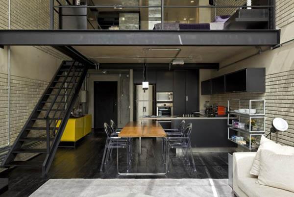 Decor me un loft de estilo industrial y masculino for Espejo estilo industrial