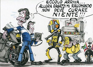 Gambar Kartun Lorenzo dan Rossi Yamaha Factory Racing