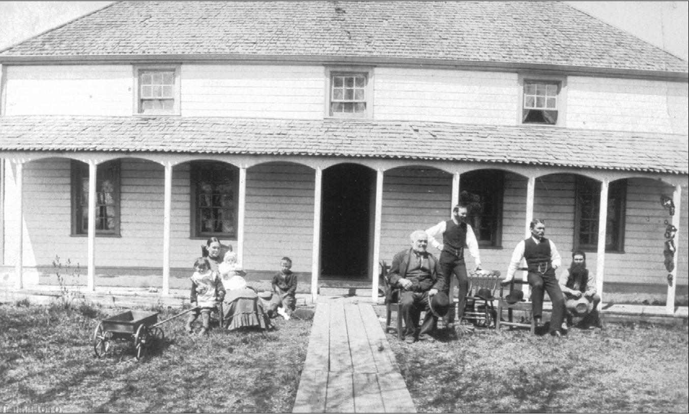 The McBeth Family home from the 1850s - Photo Taken from the City of Winnipeg Historical Report
