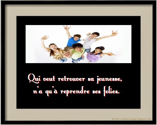Citation folie en image