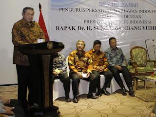 SBY pidato di depan PWI dan tokoh pers (foto Setkab)