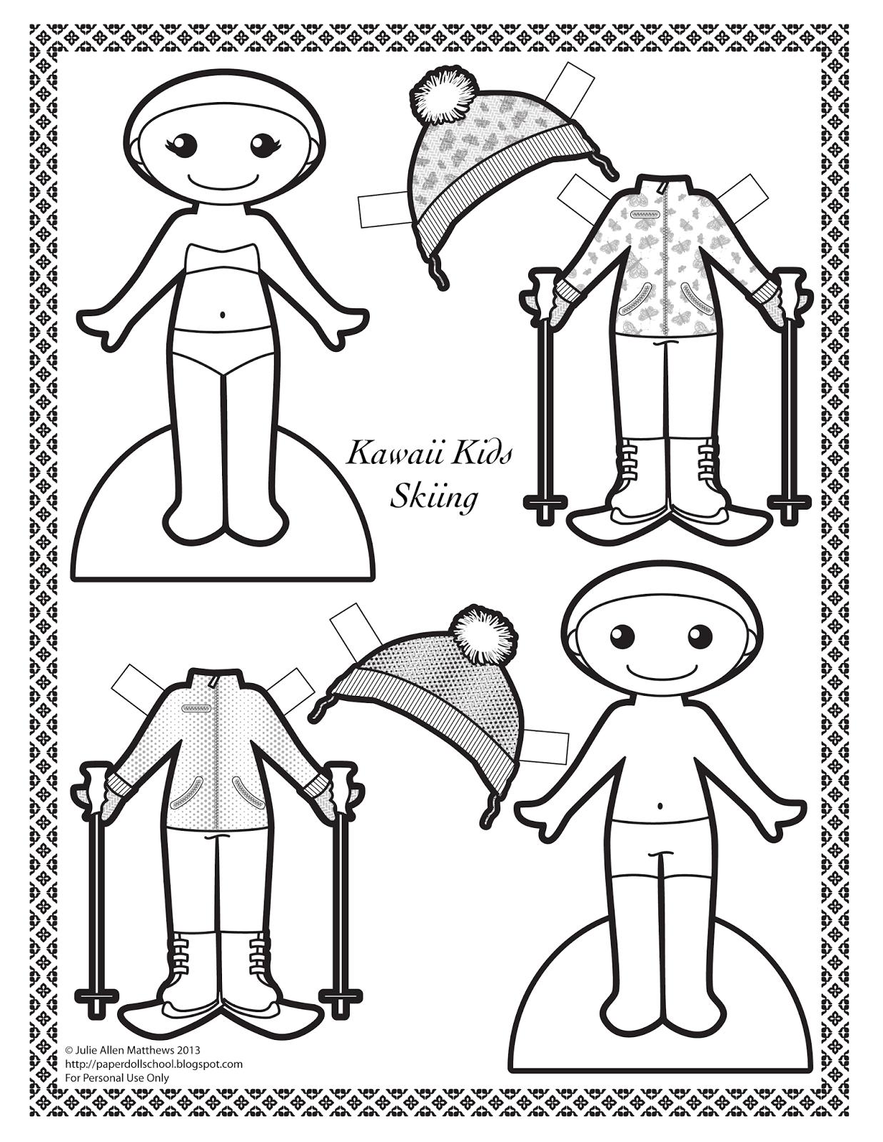 Как сделать куклу из бумаги, бумажные куклы с одеждой 34