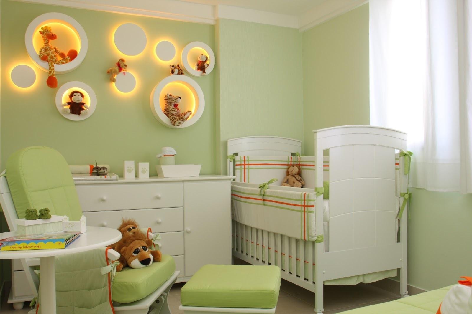 Decoração de quarto para bebê verde