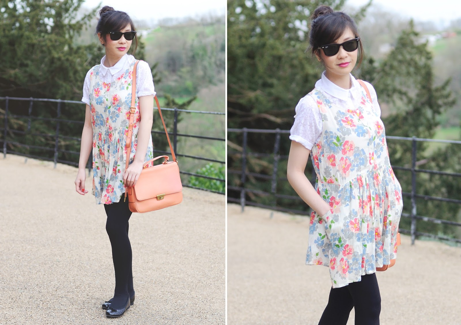 uk fashion blogger, Primark spring summer, primark floral dress, how to layer a dress with blouse