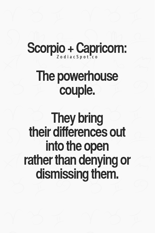 capricorn and a scorpio relationship