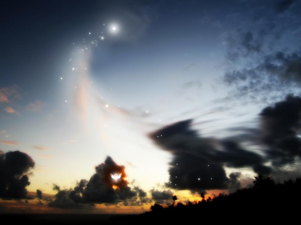 Pejzaž tamnog neba