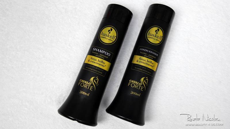 Resenha/Review: Shampoo e Condicionador da Linha Cavalo Forte da Haskell